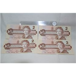 Canada Two Dollar Bills (4)