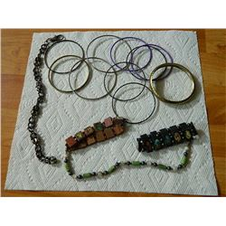 BAG OF ASSORTED JEWELRY - BRACELTS & MORE