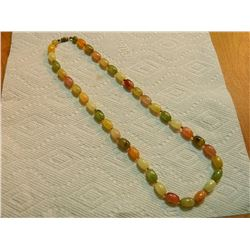 BEADED NECKLACE - 22  LONG  - MULTI COLOR