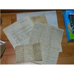 VINTAGE PAPERS - 1903-1921