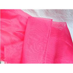 "SHAWL, HIJAB - NEW - PINK - WHITE SPOTS - 13 ½"" X  62"""