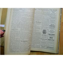 VINTAGE BOOK - 1925 SPOKANE COLLEGE ECHO - NEWSPAPERS BOUND TOGETHER - OCT 2, 1925 - JULY 1, 1926