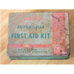 VINTAGE TIN BOX - CURITY AUTOMOBILE FIRST AID KIT