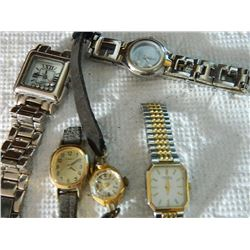 ASSORTED WATCHES - TIMEX, HEBERT, GUESS & MORE - 5 TTL