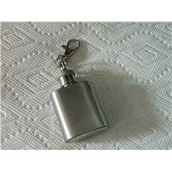 KEYCHAIN - STAINLESS STEEL FLASK - 1oz