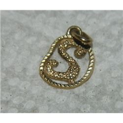 "FROM ESTATE - PENDANT/ CHARM - ""S"" - 10K GOLD"