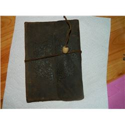 LEATHER BOUND JOURNAL BOOK - MADE IN ITALY - RETAIL $45 - firts few pages removed