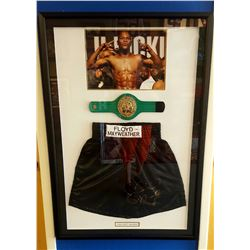 Mayweather Signed Boxing Collage