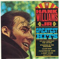"Hank Williams Jr ""Greatest Hits"" Signed Album"