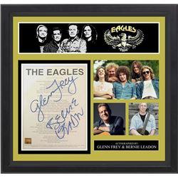 "Eagles ""Life In The Fast Lane"" Signed Lyrics"