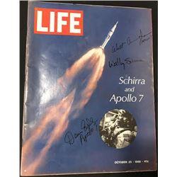 Apollo 7 Crew Signed 1968 Life Magazine