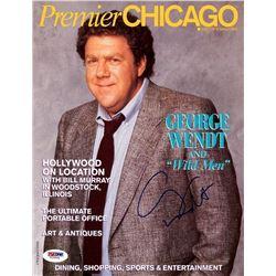 PSA/DNA George Wendt Signed Premier Chicago Magazine