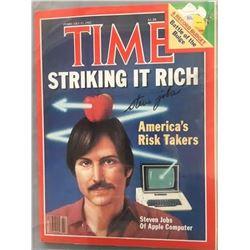 Steve Jobs Signed 1982 Time Magazine