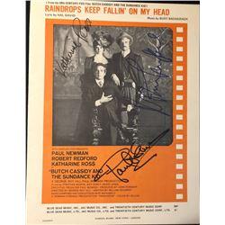 Butch Cassidy & Sundance Kid Signed Mini Poster