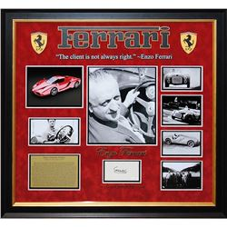 Enzo Ferrari Autographed Collage