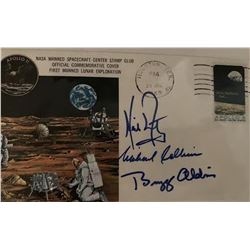 PSA/DNA Apollo XI Crew Signed Commemorative Envelope