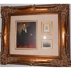 Abraham Lincoln Framed & Signed Carte de Visite Collage