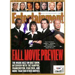 PSA/DNA Jackson & Travolta Signed Entertainment Weekly Magazine