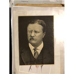 Teddy Roosevelt signed photo