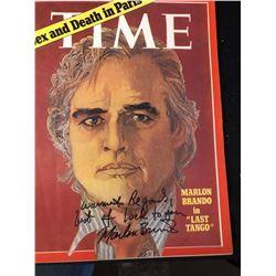 "Marlon Brando ""Time Magazine"" Signed Photo"