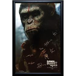 Dawn Of The Planet Of The Apes Signed Movie Poster