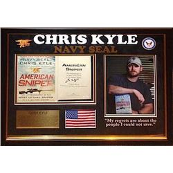 Chris Kyle Signed American Sniper Book