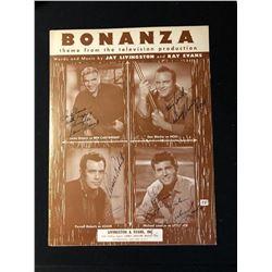 Bonanza Cast Signed Promo Book