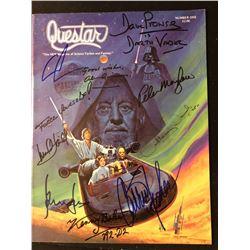 Star Wars Cast Signed Questar Magazine
