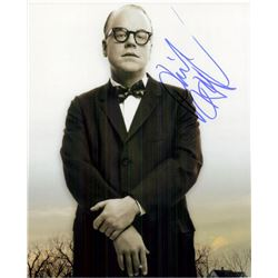 """Philip Seymour Hoffman """"Capote"""" Signed Photo"""