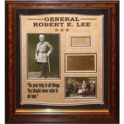 General Robert E. Lee Framed Signature Collage