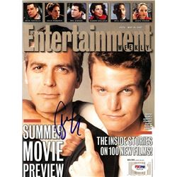 PSA/DNA George Clooney Signed Entertainment Weekly Magazine