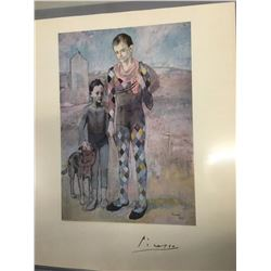 Picasso Signed Two Acrobats with a Dog Print
