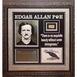 Edgar Allan Poe Framed Signature Collage