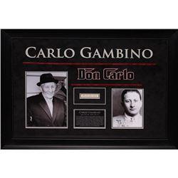 Carlo Gambino Autographed Signature Collage