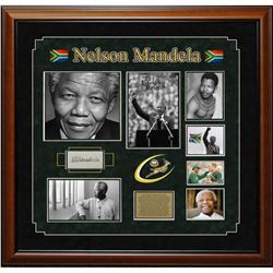 Nelson Mandela Framed Signature Collage