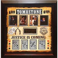 Tombstone Autographed Playing Card Collage