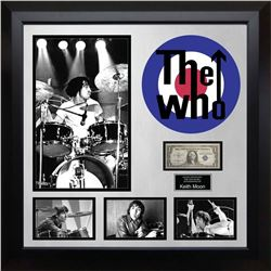 Keith Moon Signed US Silver Certificate Collage