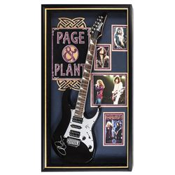 Page and Plant Signed and Framed Guitar