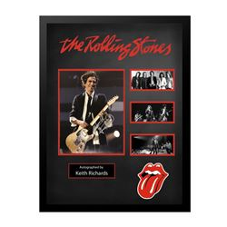 Keith Richards Rolling Stones Signed Collage