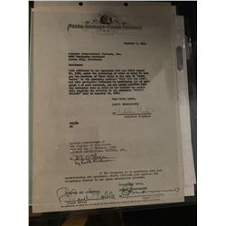 "Clark Gable ""Gone With the Wind"" Columbia-MGM Signed Contract"