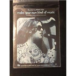Mama Cass Elliot Signed Music Book