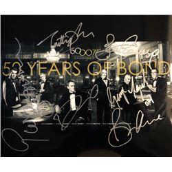 "James Bond ""50 Years of Bond"" Signed Mini Poster"