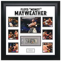 "Floyd ""Money"" Mayweather Signed $100 Bill Collage"
