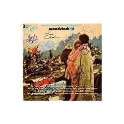 "The Who, CSNY, Jefferson Airplane, Santana ""Woodstock"" Signed Soundtrack Album"