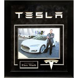 Elon Musk Autographed Photo