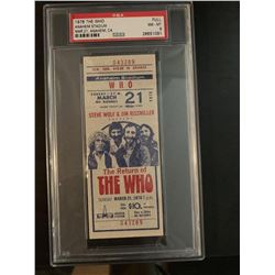 PSA/DNA The Who 1976 Concert Ticket