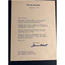 Frank Sinatra Signed 1986 Letter