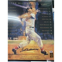 PSA/DNA Ted Williams Signed 16x20 Poster