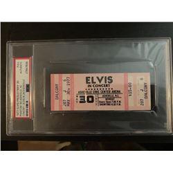 PSA/DNA Original 1977 Ticket Elvis Presley Asheville Concert