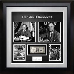 FDR Signed US Silver Certificate Collage